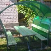Беседка садовая Агросфера-Астра 2 метра + мангал фото