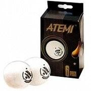 Мячи для настольного тенниса АТЕМИ 1*бел, 3 шт фото