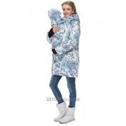 Куртка 3 в 1 зимняя Мадейра пэйсли на белом для беременных и слингоношения