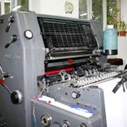 Однокрасочная офсетная печать фото