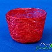 Корзина Гиацинт 70*100 ярко-красная из сизаля фото