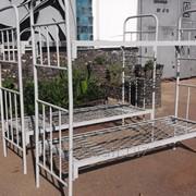 Кровать металлическая, двухъярусная, разборная фото