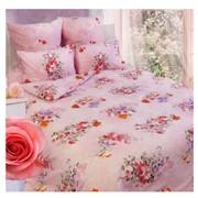Комплект постельного белья Сова и Жаворонок Розы, евро фото