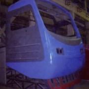 Маска кабины управления электропоезда ЭР-2 фото