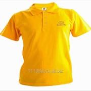 Рубашка поло Subaru желтая вышивка золото фото