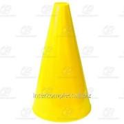 Конус для разметки полей и трасс 20 см флуоресцентный желтый фото