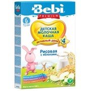 Бэби каша премиум рис, яблоко с молоком (с 4 мес) 250г фото