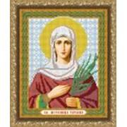 Икона ручной работы Святая Татьяна вышитая бисером фото