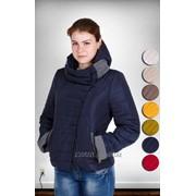 Стеганая короткая куртка на силиконe фото