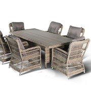 Комплект плетеной мебели Цесена-1 фото