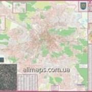 План міста до кожного будинку Львів 135х97 см настенная карта М1:12 000 ламинированная Код товара 222673 фото