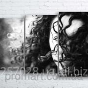 Модульна картина на полотні Незнайомка код КМ100160-234-MIL фото
