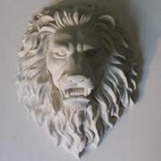 Барельеф «Замковый Лев» маска фото