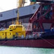 Мусоросбор в порту. фото