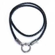 Шнурок шёлковый с серебряным замком ВС 001 фото