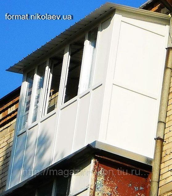 Балконы.наши работы галерея фирма формат, николаев - категор.