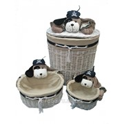Корзина для игрушки овал. Собака, лоза ( 36*50*Н56), комп.-3шт., арт. 8625 55839-3 фото