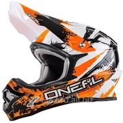 ONEAL Кроссовый шлем 3Series SHOCKER чёрно-оранжевый фото