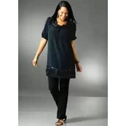 Вечернее платье-туника сине-черное бренд M.I.M. фото