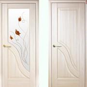 Дверь из бруса Новый стиль Амата ясень фото