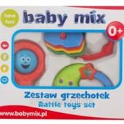 Набор погремушек BabyMix - 3 шт фото
