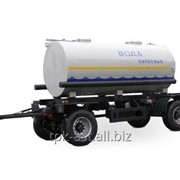 Прицеп-цистерна НЕФАЗ 8602-2010-04 (8000 литров; водовоз; нержавейка) фото