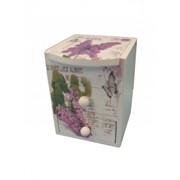Комодик-косметичка с рисунками, 2-мя ящичками, 3-мя отделениями и зеркалом/дерево (20*11*Н10.5) фото