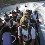 Боевой патруль на лодках в пейнтбольном клубе СКОРПИОН фото