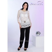 Блуза 1590 Белый цвет фото