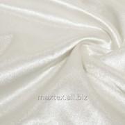 Ткань Креп-сатин молочный фото