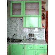 Кухня угловая малогабаритная с фасадами МДФ. фото