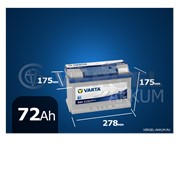 Батарея Varta Blue Dynamic 72Ah E43 обратная полярность фото