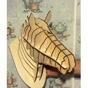 Трофейная голова Коня фото