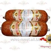 Колбаса Сервелат Венгерский высшего сорта варено-копченая салями мясная фото