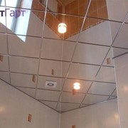 Скляна стеля з гартованого скла з підсвіткою дзеркальна