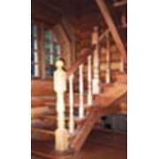 Лестница угловая, трехмаршевая фото