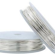Проволока медная 0,6мм, цвет - серебро (6,5м) фото