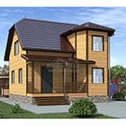 Сруб дома 6.0 х 7.5 м (Проект CД-078-3 под усадку Зимний) фото
