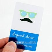 Изготовление пластиковой визитки фото