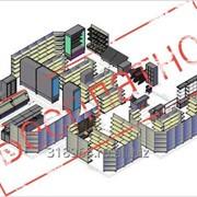 Дизайн-проект магазина расстановка оборудования, 2 и 3D визуализация фото