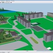 Моделирование населенного пункта 3d фото