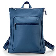 """Кожаный рюкзак """"Верса"""" (голубой) фото"""