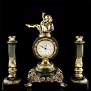 Златоуст часы Ангелочек + 2 подсвечника в П/У фото