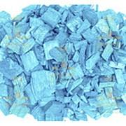 Щепа декоративная, голубая, 60л., мешок фото