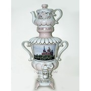 Самовар модель 4 Храм Рождества Христова Краснодар деколь розовый фото