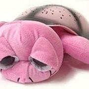 Ночник проектор звездного неба Музыкальная черепаха Music Turtle Pink розовая фото