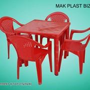 Стол со стульями пластиковые в комплекте фото