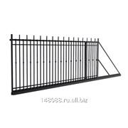 Ворота откатные сварные металлические, 1,8х4м фото