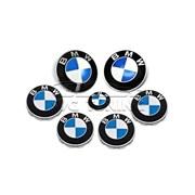 Набор эмблем для BMW, в комплекте 7 шт. фото