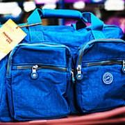 Дорожная сумка Asiapard 42х24х30см голубая фото
